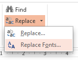 PowerPoint 2013 Replace Fonts B