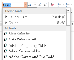 PowerPoint 2013 Replace Fonts